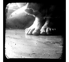 His Feet Photographic Print