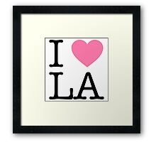 Everyone Loves LA - Pink Framed Print