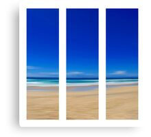 Summertime Blues - Triptych Canvas Print