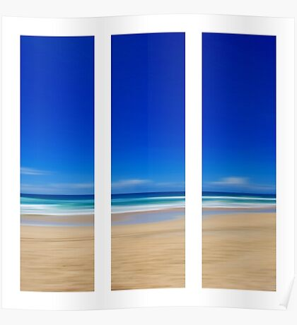 Summertime Blues - Triptych Poster