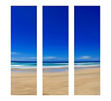Summertime Blues - Triptych Photographic Print