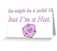 Nat20 Greeting Card