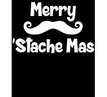 merry stache mas Photographic Print