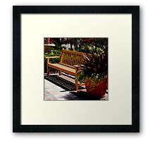 Sit and Enjoy The Day Framed Print