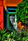 Tucson Doorway With Orange by Lois  Bryan