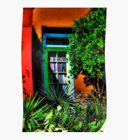 Tucson Doorway With Orange Poster