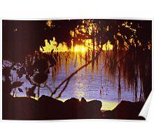 Torquay to Point Vernon sunset Hervey Bay Poster