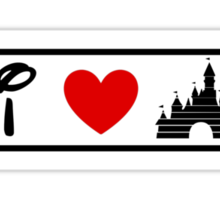 I Heart Sleeping Beauty (Classic Logo) Sticker