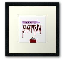 Satanic Spray Paint Framed Print