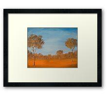 Australian outback Framed Print