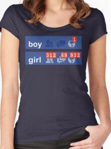 Boy vs Girl Women's Fitted Scoop T-Shirt