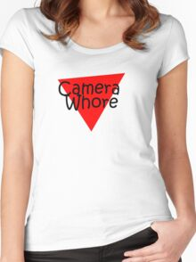 camera whore Women's Fitted Scoop T-Shirt
