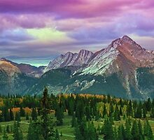 Molas Pass Sunset Panorama by Brian Kerls  photography