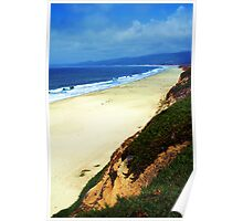 Half Moon Bay Curvature Poster