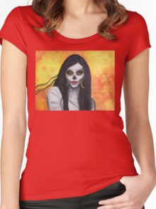 Flora - Day of the Dead Women's Fitted Scoop T-Shirt