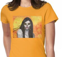 Flora - Day of the Dead Womens Fitted T-Shirt