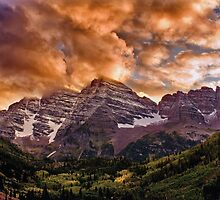 Maroon Bells Sunset by Brian Kerls  photography