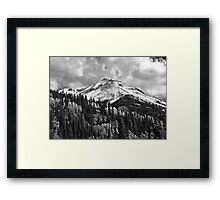 Red Mountain Snow Framed Print