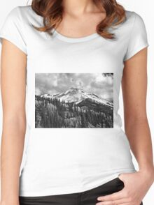 Red Mountain Snow Women's Fitted Scoop T-Shirt
