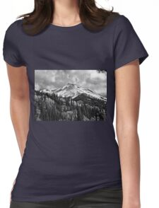 Red Mountain Snow Womens Fitted T-Shirt