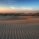 Sunset at Birubi Beach Sand Dunes 1 by Mike Salway