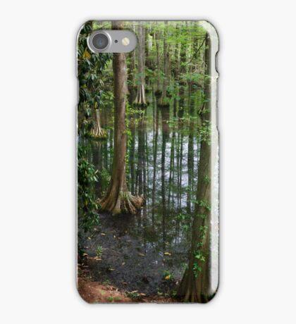 Cypress Trees Growing in Swan Lake iPhone Case/Skin