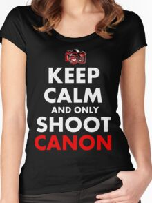 Keep Calm and Only Shoot Canon Women's Fitted Scoop T-Shirt