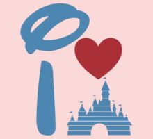 I Heart Sleeping Beauty (Inverted) Kids Clothes