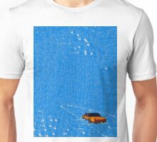 Lincoln town car driving into the sea Unisex T-Shirt