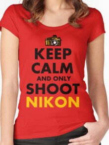 Keep Calm and Only Shoot Nikon Women's Fitted Scoop T-Shirt