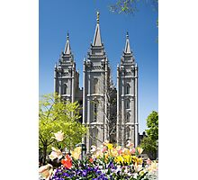Mormon Temple - Salt Lake City Photographic Print