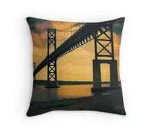 Mount Hope Bay Bridge Throw Pillow