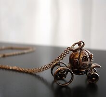 """Cinderella""""s carriage charm necklace by alehita"""