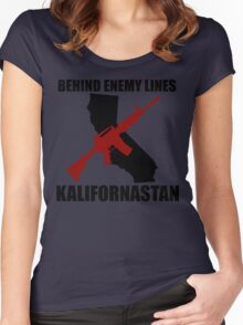 Kalifornastan (Black) Women's Fitted Scoop T-Shirt