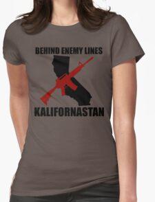 Kalifornastan (Black) Womens Fitted T-Shirt