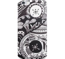 Ying Yang Zentangle iPhone Case/Skin