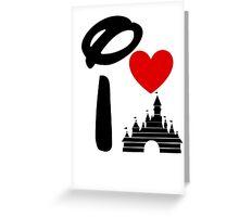 I Heart Sleeping Beauty (dark) Greeting Card