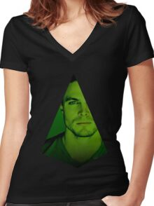 Oliver Queen Women's Fitted V-Neck T-Shirt