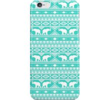 Elephant Tribal Mint iPhone Case/Skin