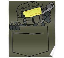 Pocket Spartan (Halo Pocket Shirt / Master Chief Pocket Shirt) Poster