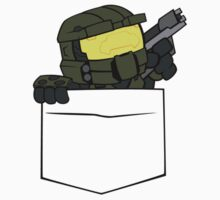 Pocket Spartan (Halo Pocket Shirt / Master Chief Pocket Shirt) Kids Clothes