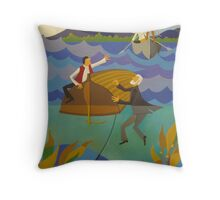 ELI, CLARENCE AND THE KILLICK 1845 Throw Pillow