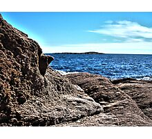 View Over Rock Ocean Photographic Print