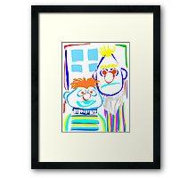 Bert & Ernie Framed Print