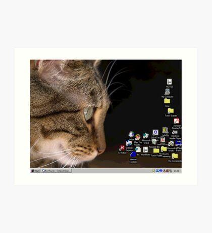 cat n mouse Art Print