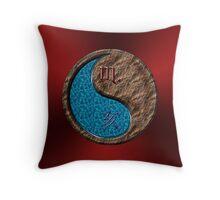 Scorpio & Boar Yin Earth Throw Pillow