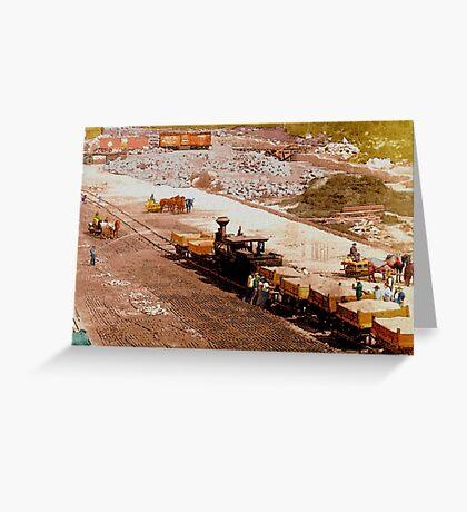 Building the Hopkinton Dam 1892 Greeting Card