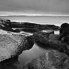 Racing Clouds Black and White by Andrew Stockwell