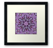 Floral Abstract Of Pink Hydrangea Flowers Framed Print