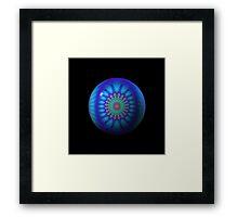 One. Blue. Ball. Framed Print